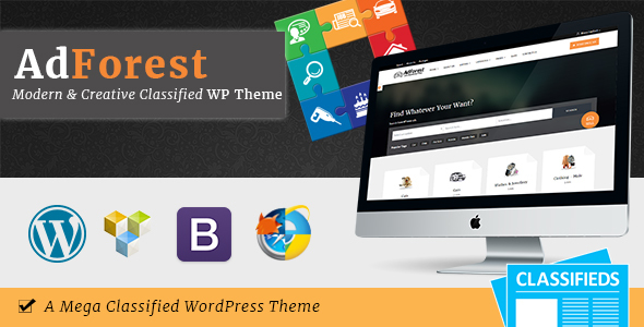 Adforest Classifieds wordpress theme