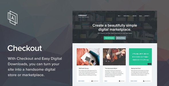 Checkout Digital Download wordpress theme
