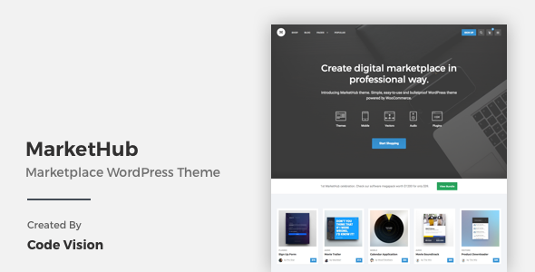 MarketHub wordpress Theme