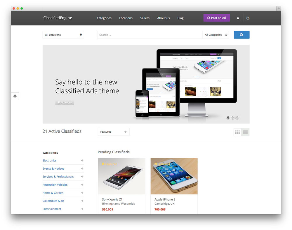 ClassifiedEngine wordpress Theme