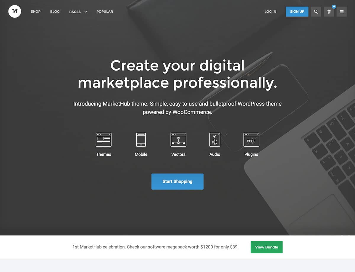 Market Tutorial Marketplace wordpress theme