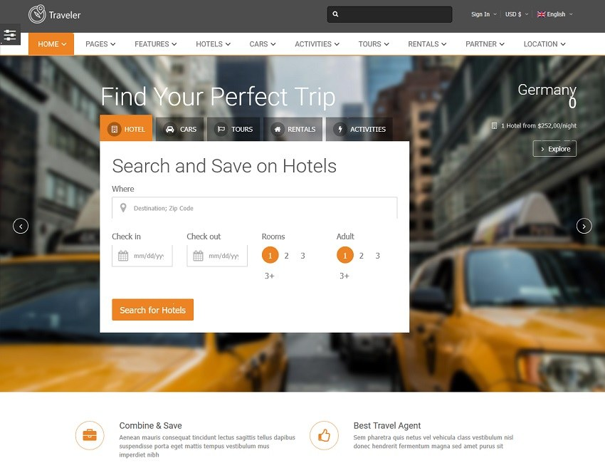 Traveler Travel Booking Marketplace Theme – Marketplace Themes