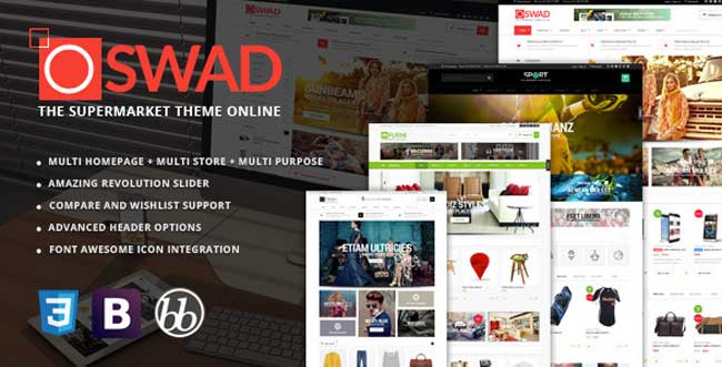 OSWAD Multi Vendor Supermarket wordpress theme