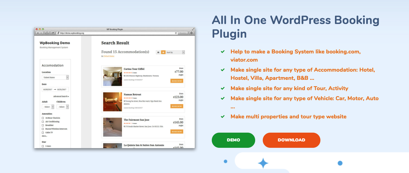 wordpress booking plugin