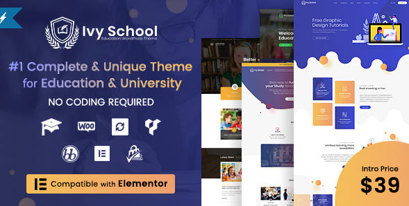 ivy school wordpress theme